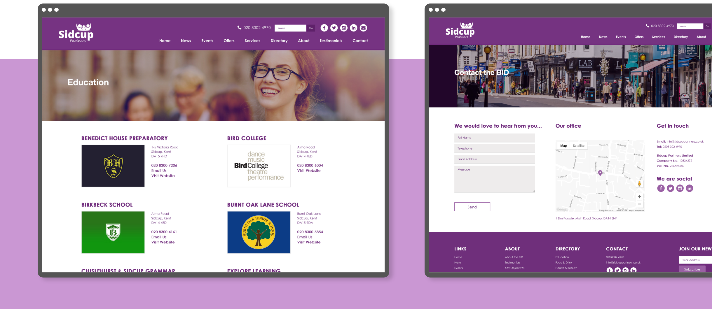 Website Design - Sirman and Lee