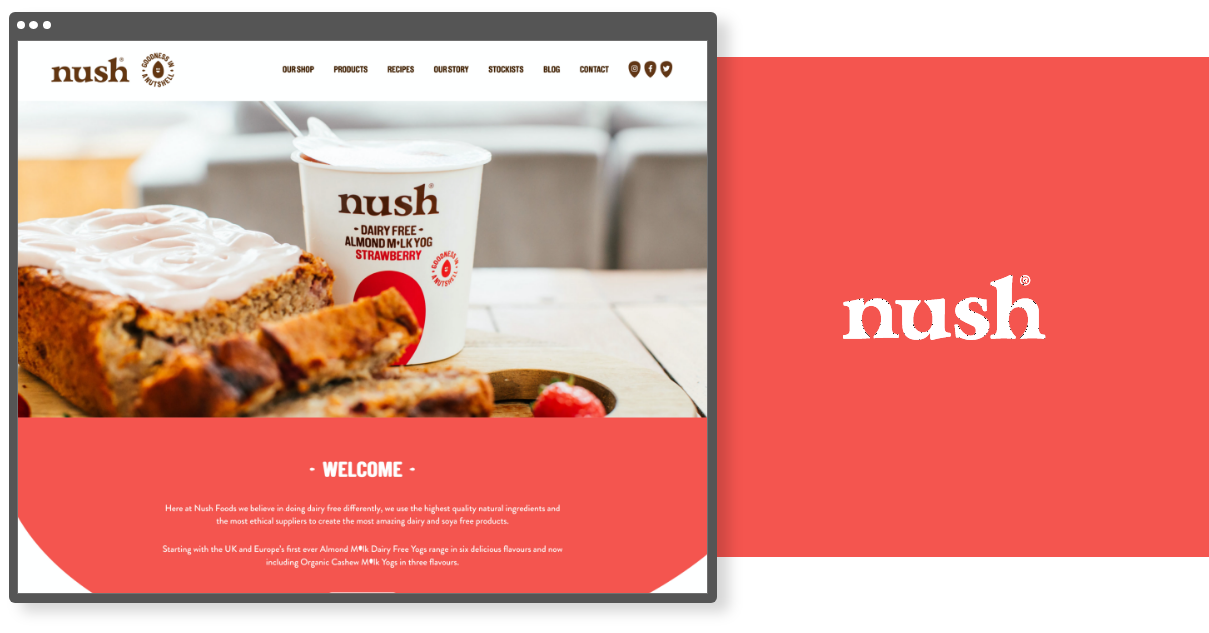 Nush Foods - Digital Design Agency